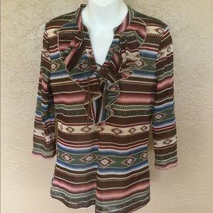 Chaps Ralph Lauren Indian Blanket Print Shirt L